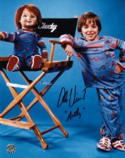 "P147AV ALEX VINCENT SIGNED ""ANDY CHILDS PLAY"" SIGNED 10X8 PHOTO GUARANTEED AUTHENTIC AUTOGRAPH …"
